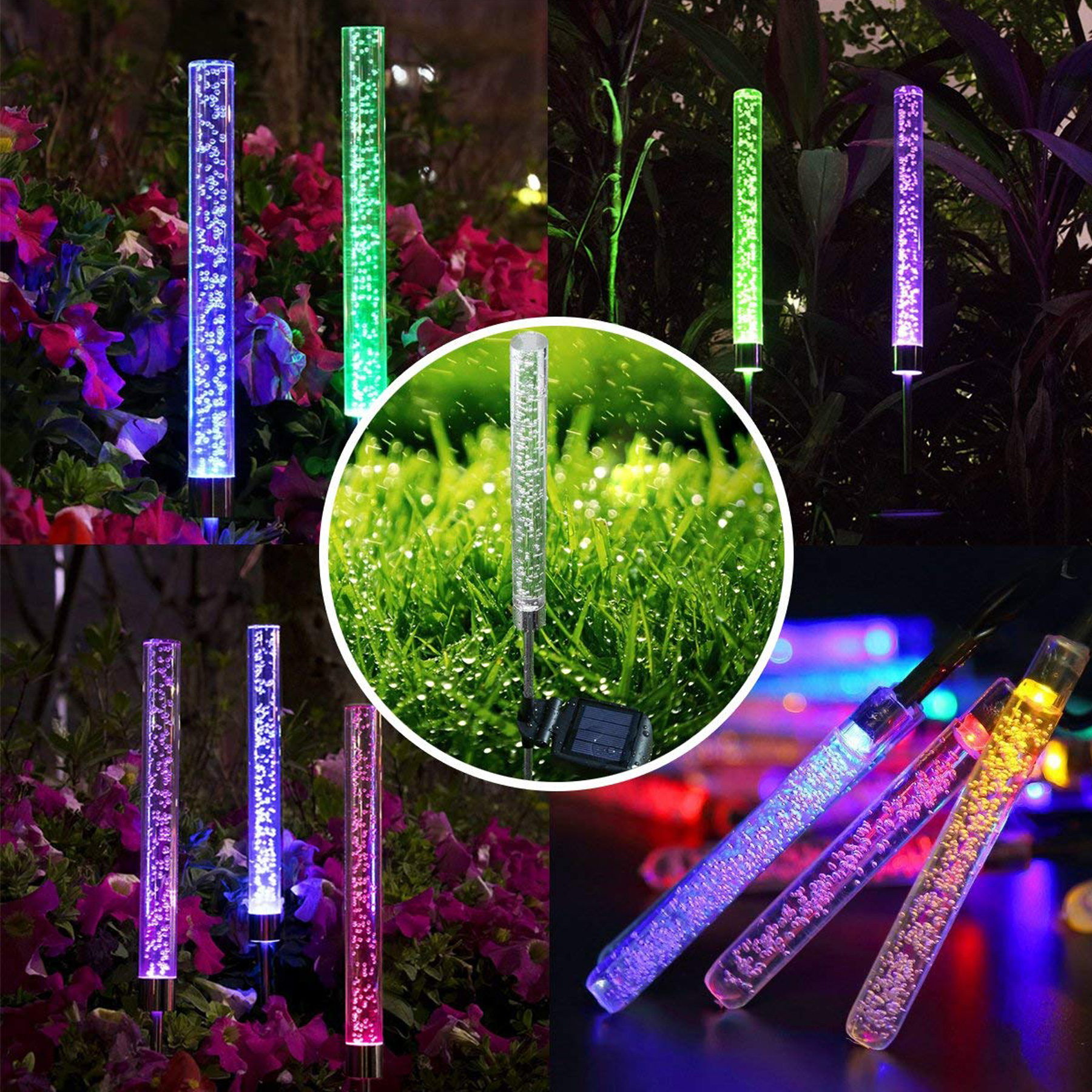 65 Off Garden Outdoor Color Changing Solar Lights 4 Pc