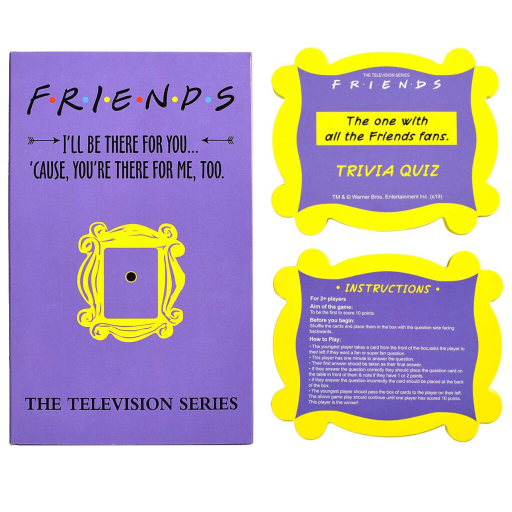 Friends Tv Shoe Trivia Quiz Game